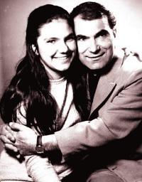 Марта с баща си - легендарният комик Григор Вачков