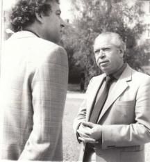 Матев с младият си колега в лириката Таньо Клисуров