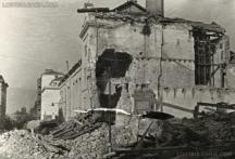 Разрушената от бомбардировки столица. Снимка - Изгубената България.