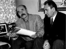 Димитър Шумналиев ( на снимката вляво) с бившия министър на културата от преди 10 ноември 1989 г. Георги Йорданов.