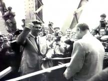 Вълко Червенков открива през 1954 г. Моста на дружбата на река Дунав