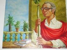 Живописен портрет на Никола Инджов - художник: Кармело Гонсалес /Куба/, 1976 г.