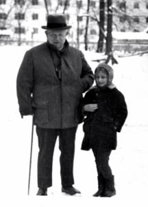 Малката Нина със знаменития си дядо