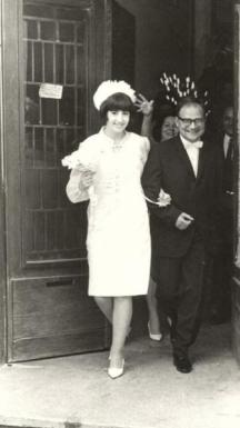 Сватбата на Владко Башев с Вера Ганчева, по-късно професор по скандинавистика