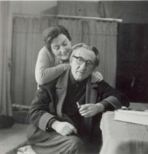Актьорът Димитър Панов (бай Пано) със съпругата си