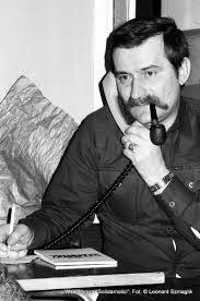 Електротехникът Лех Валенса като синдикален лидер на