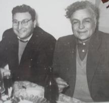 Иван Качин (вдясно) и Анастас Първанов 1959 г.