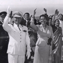 Югославският президент Тито със съпругата си Йованка