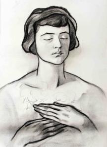 Племенницата на художника (рисунка на Майстора)