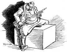 Бай Ганю пак ще прави избори...Карикатура Тодор ЦОНЕВ
