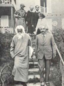 Гениалният учен след беседа с индийския философ Рабиндранат Тагор