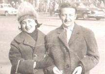 Никола Анастасов със съпругата си Мария Косева