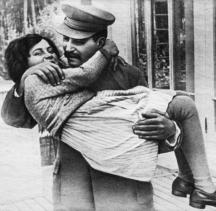 Сталин с дъщеря си Светлана