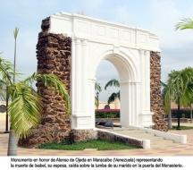 Мемориалът на Алонсо де Охеда в Маракайбо (Венецуела).