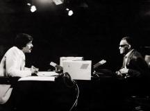 "Янчо Таков в студиото на ""Всяка неделя"" през 1981 г. интервюира Рей Чарлз."