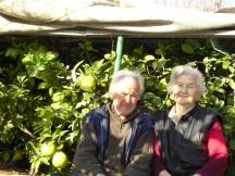 Серафим Серафимов със съпругата си Радка, вече покойница