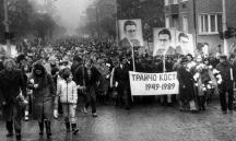 Митинг-шествие в София в памет на Трайчо Костов през 1989 г.