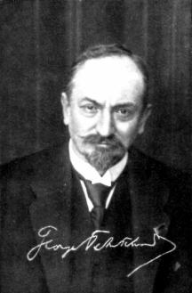 Съветският комисар на външните работи Георгий Василевич Чичерин (1872-1936).