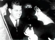 Стоилов със съветската кинозвазда Татяна Самойлова, изпълнителка на ролята на Анна Каренина