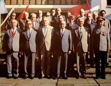 Димитър Станишев (първият вляво на втория ред с очилата) бе секретар на ЦК на БКП