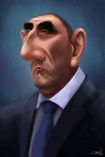 Според ГЕРБ Цветан Цветанов бе като морален стожер на партията Карикатура - от интернет