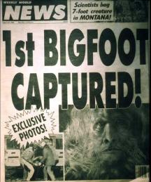 Срещите с Бигфут е любима тема за вестниците