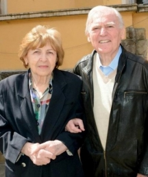 Композиторът със съпругата си