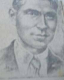 Замфир Хаджийски от с. Дългошевци, Ломско, обесен на 15 октомври 1943 г. в Ломския затвор. Скицата е от вестник