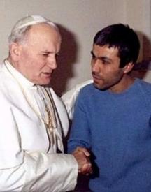 Срещата на Али Агджа с папа Йоан Павел в затвора