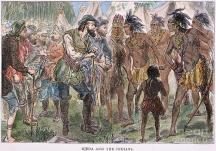 Алонсо де Охеда се среща с туземците
