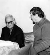 Двама близки поети - Атанас Далчев и Радой Ралин.