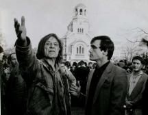 Каракачанов на екологично шествия с актьора Петър Слабаков