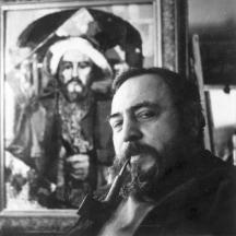 Димитър Киров в ателието си