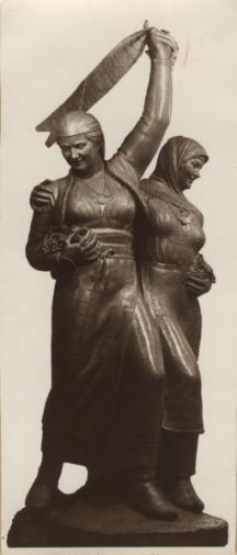 Скулпторната фигура, създадена от Кирил Тодоров, която трябвало да стои на проектирания паметник на съединението в центъра на Пловдив