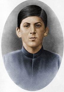 Сталин като ученик в семинарията