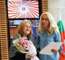 Григорова на своята 80-годишнина
