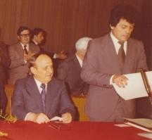 Секретарят на Централния съвет на профсъюзите Георги Карауланов до лидера на БКП Тодор Живков